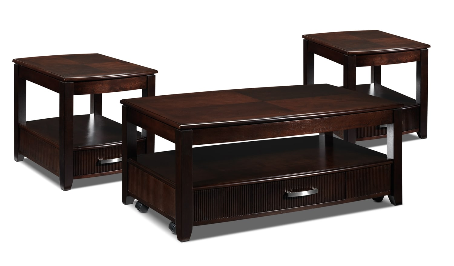 Accent and Occasional Furniture - Joanna Coffee Table and Two End Tables - Espresso