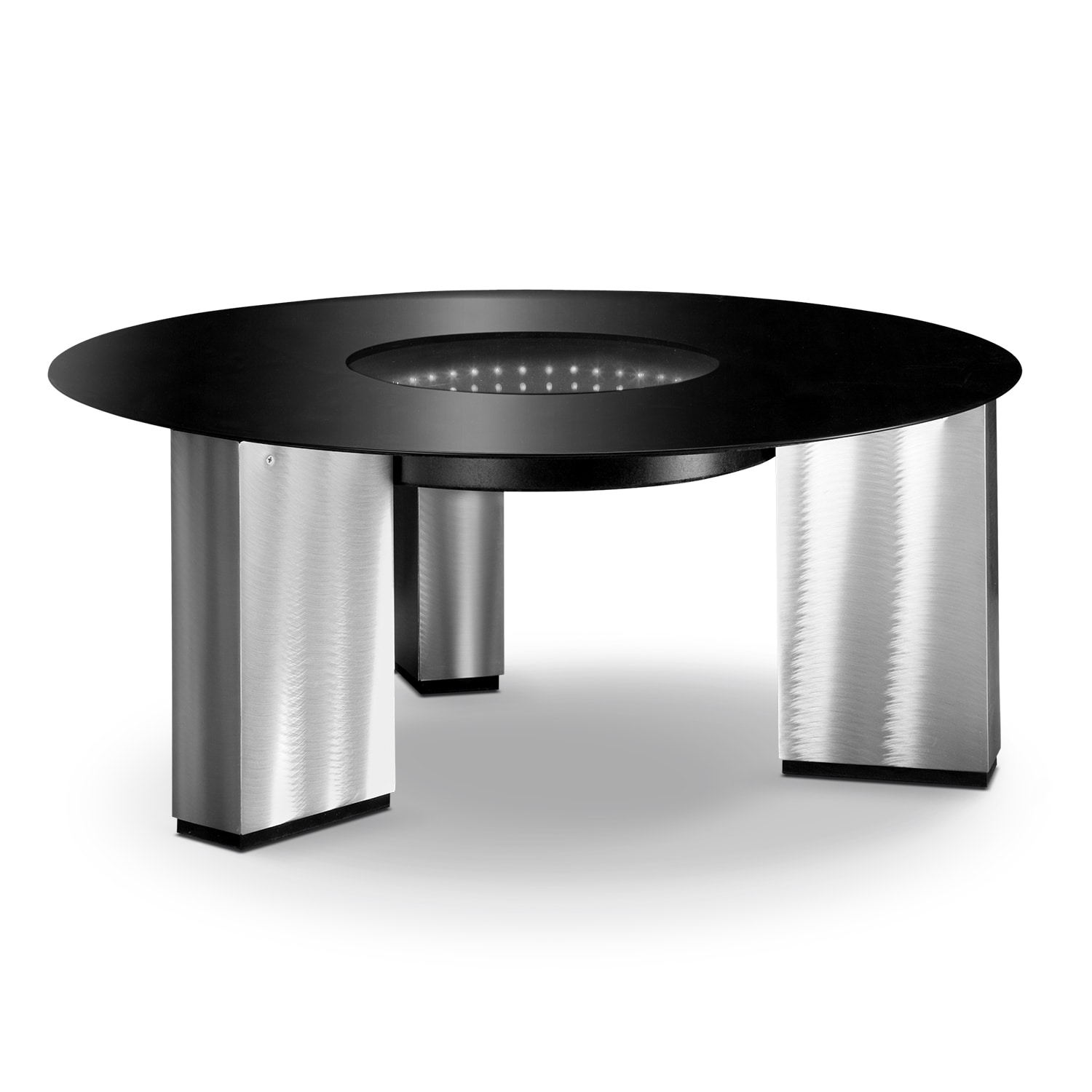 City Lights Cocktail Table - Silver And Black