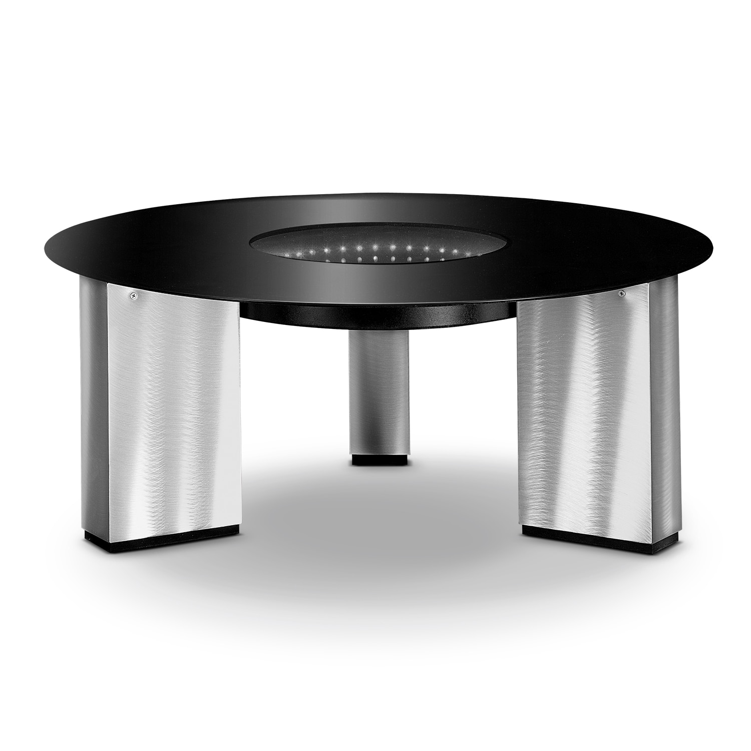 City Lights Cocktail Table Silver And Black American