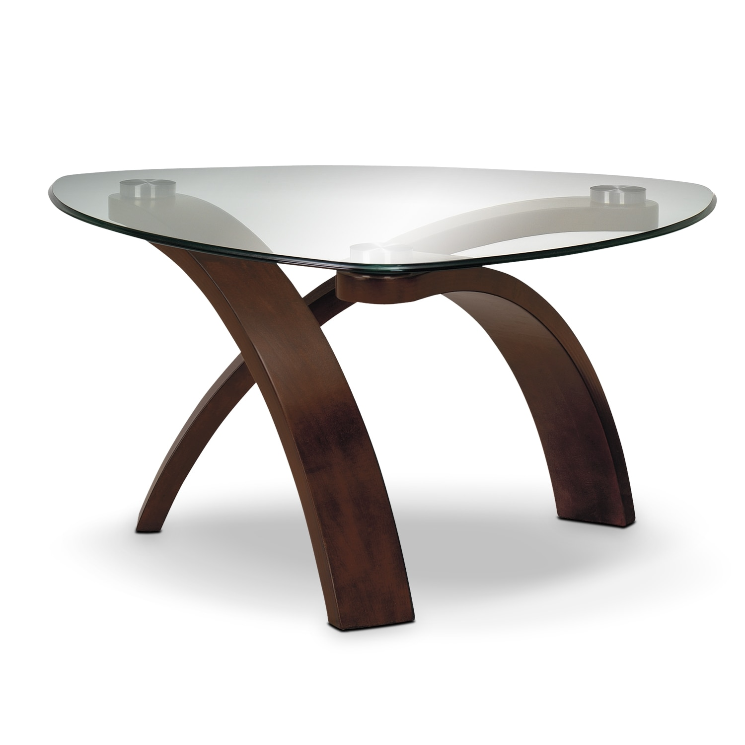 Allure occasional tables cocktail table value city furniture for Allure coffee table
