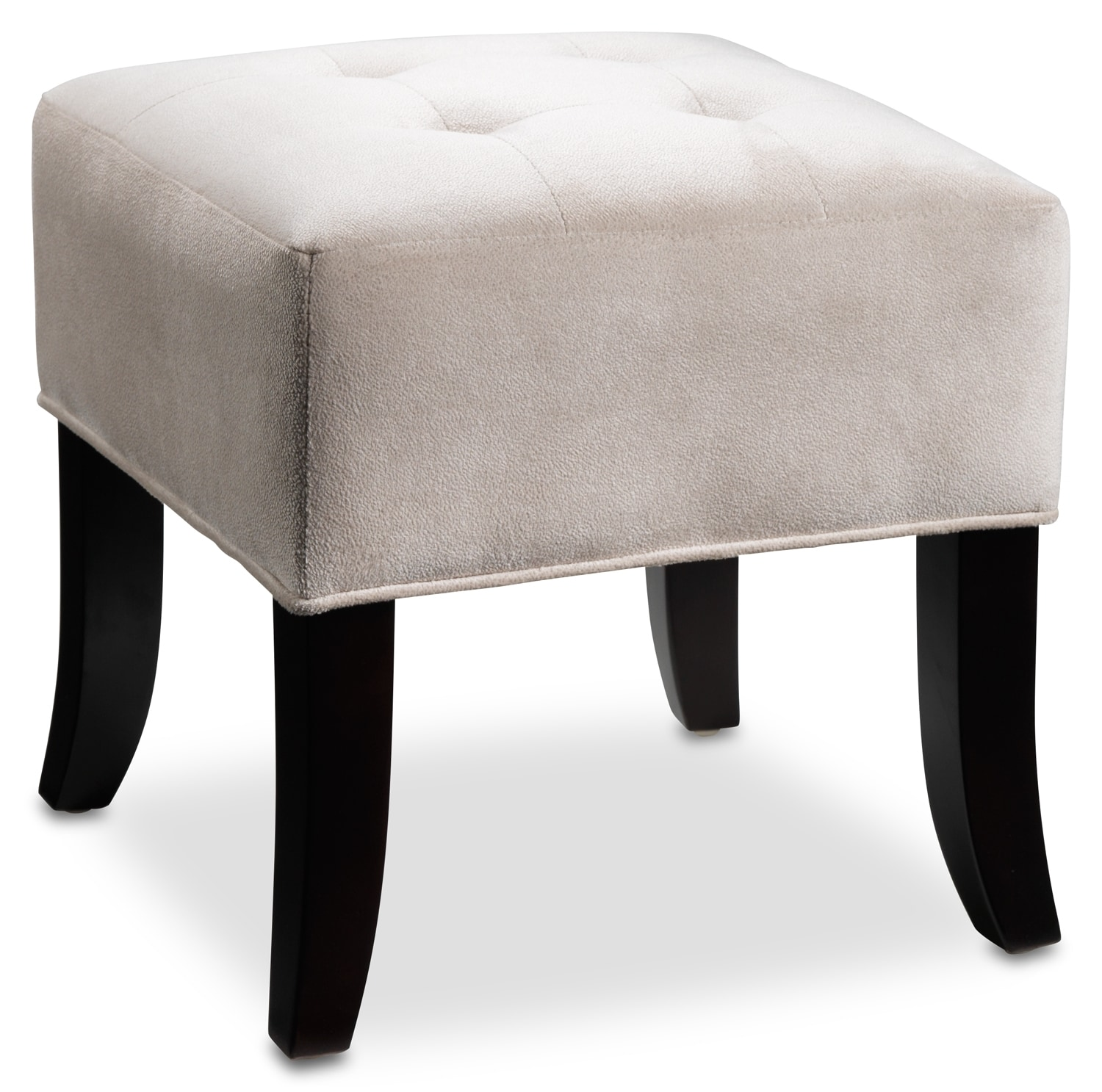 Accent and Occasional Furniture - Celo Fashion Ottoman - White