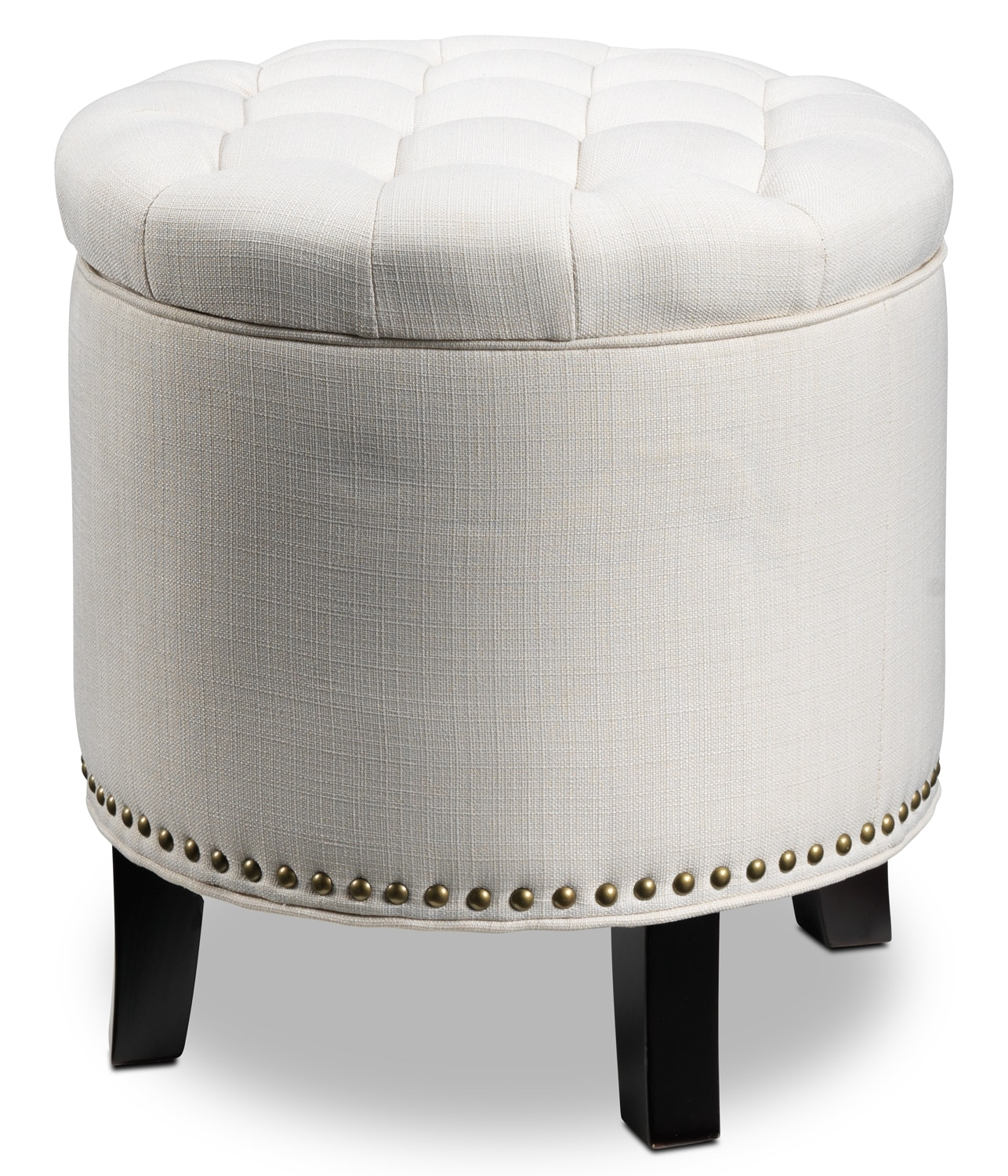 Living Room Furniture - Cosmopolitan Fashion Ottoman - Off-White
