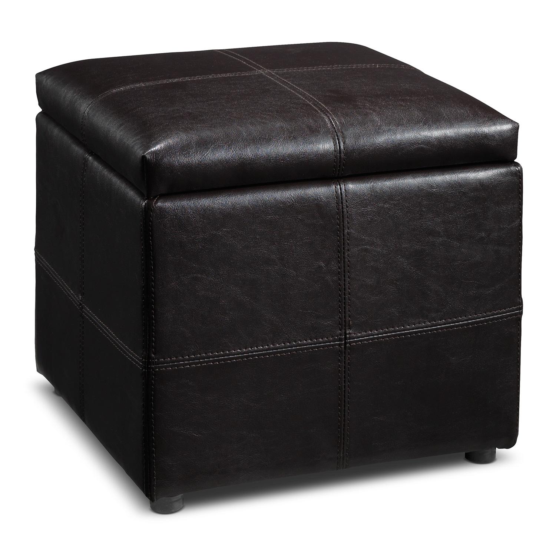 Accent and Occasional Furniture - Anisa Storage Ottoman - Espresso