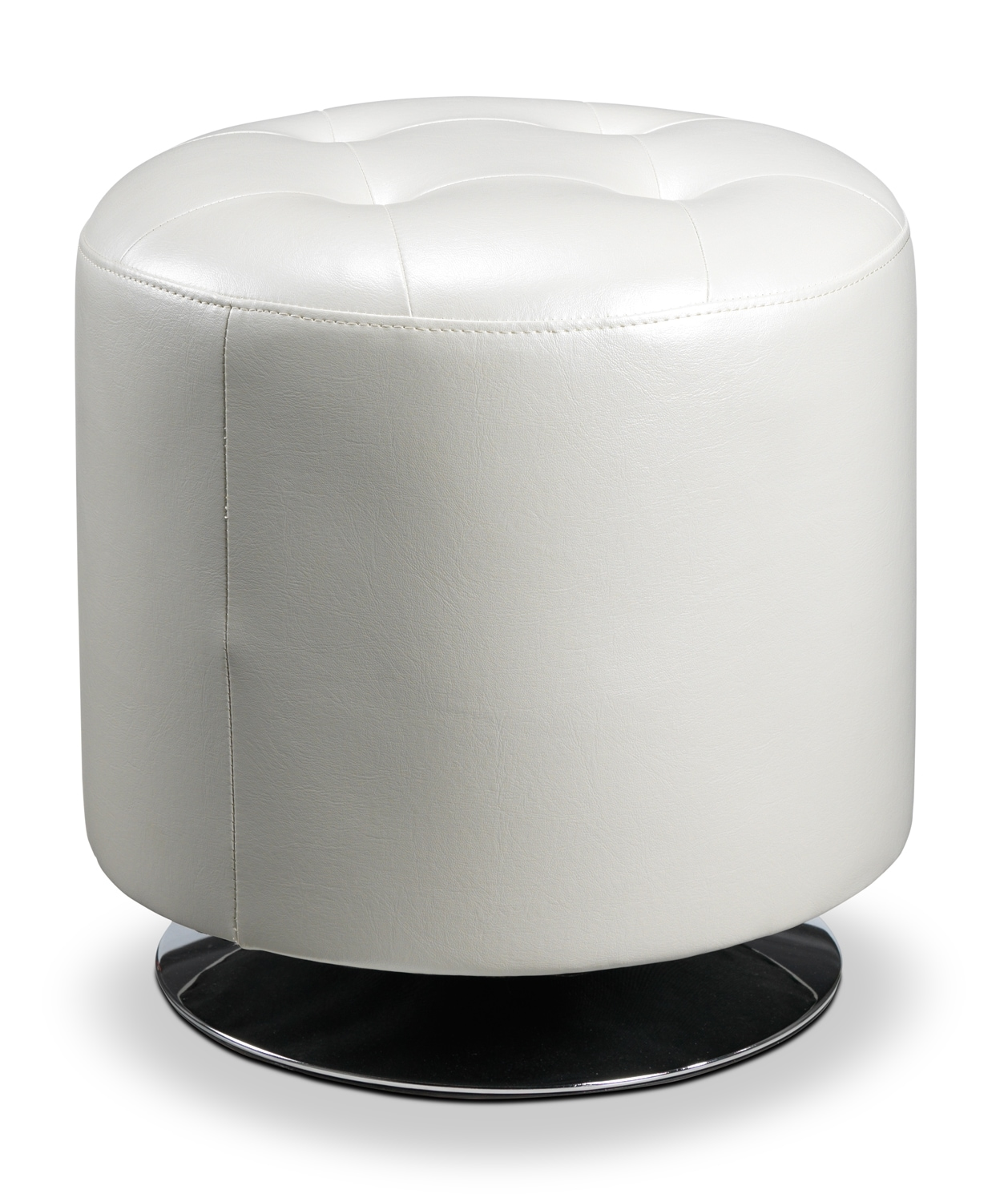 Living Room Furniture - Dion  Ottoman - White