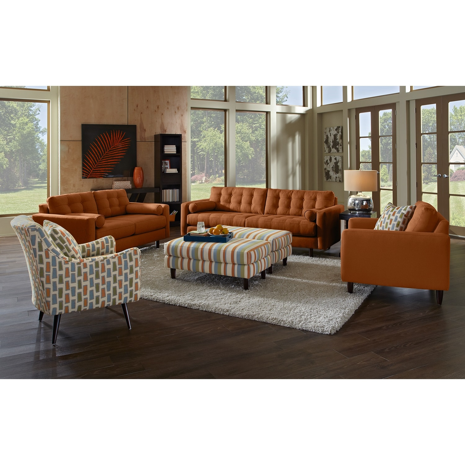 Avenue Ii Upholstery 3 Pc Living Room W Accent Chair
