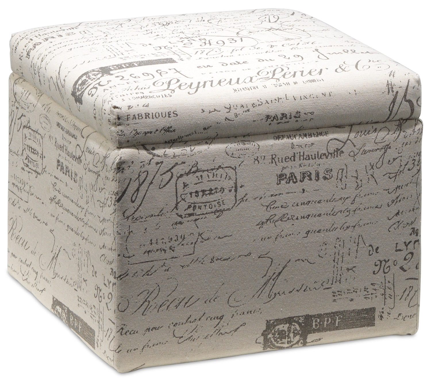 Boardwalk Small Storage Ottoman - Scroll White - Boardwalk Large Storage Ottoman - Scroll White Leon's