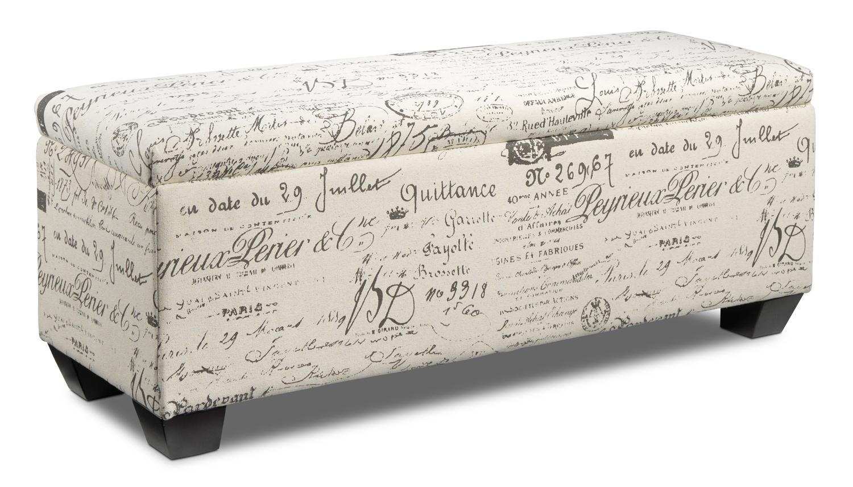 Boardwalk Large Storage Ottoman Scroll White Leon 39 S
