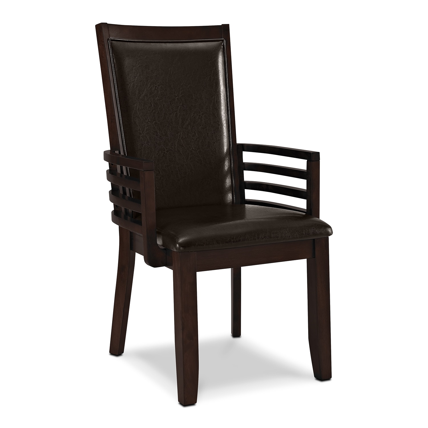 dining room furniture paragon arm chair brown