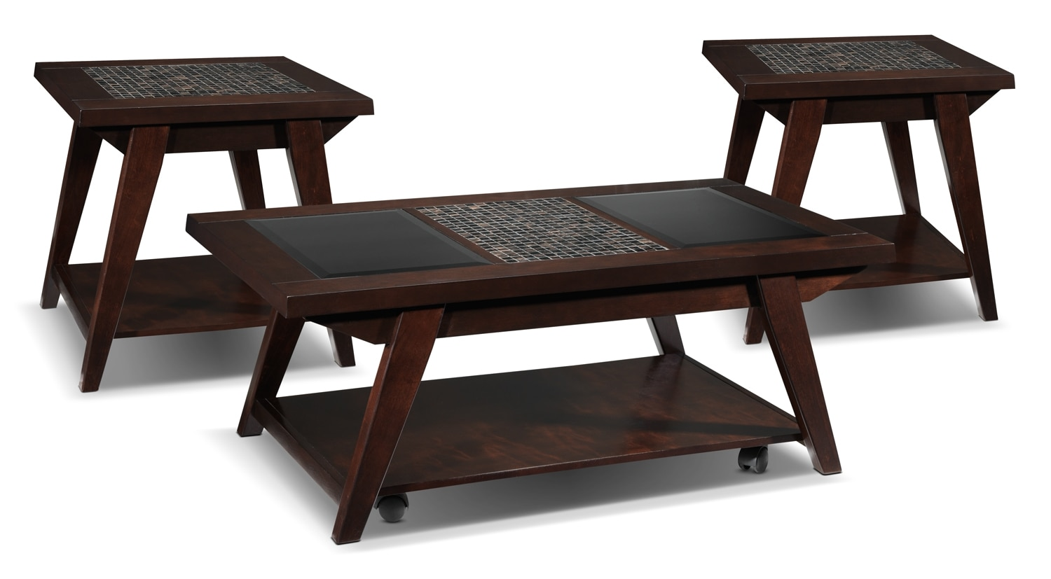 Accent and Occasional Furniture - Barcelo 3-Piece Table Set - Espresso