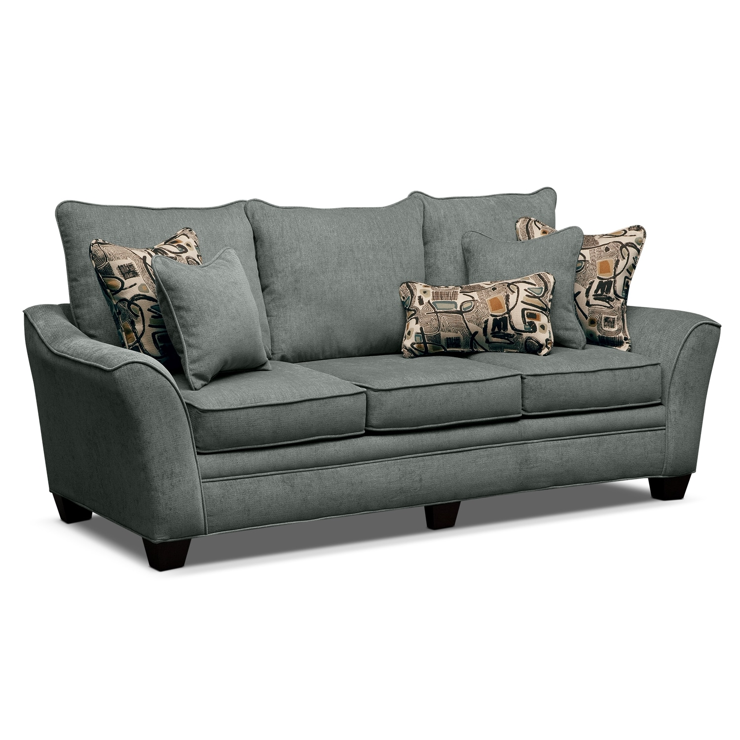 Living Room Furniture - Albion Blue Sofa