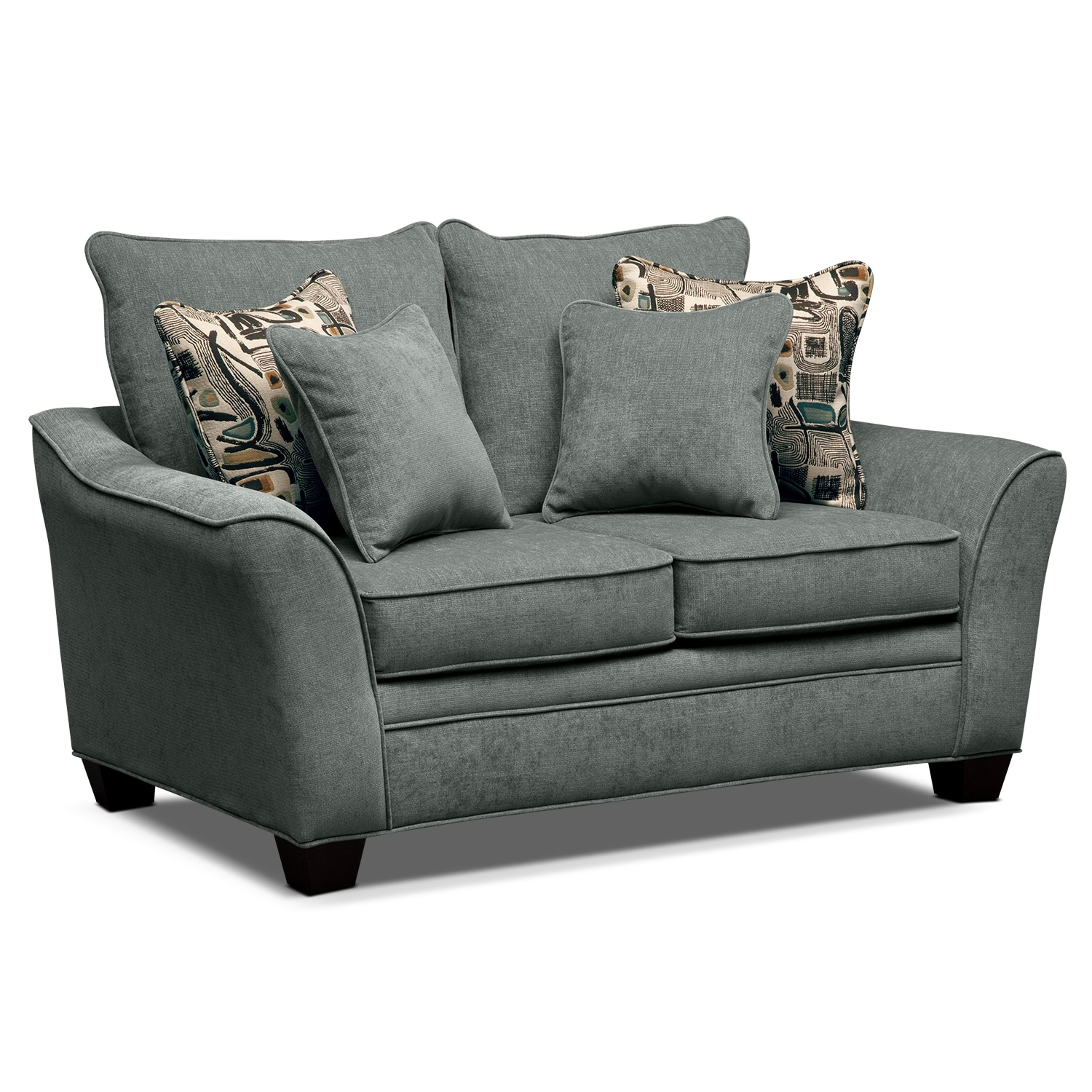 Living Room Furniture - Albion Blue Loveseat