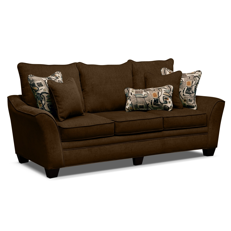 Living Room Furniture - Albion Chocolate Sofa