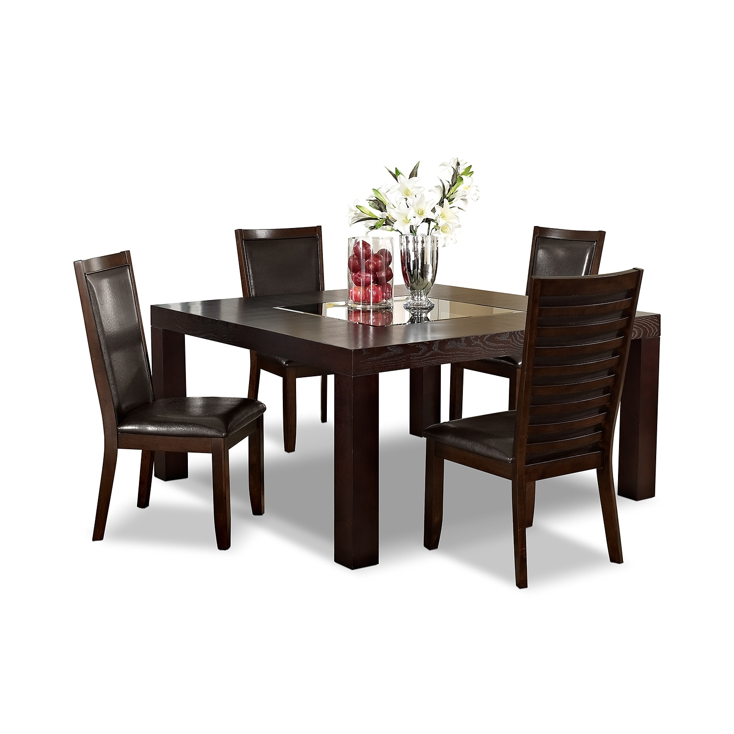 dining room furniture tango paragon ii 5 pc dinette 60 table