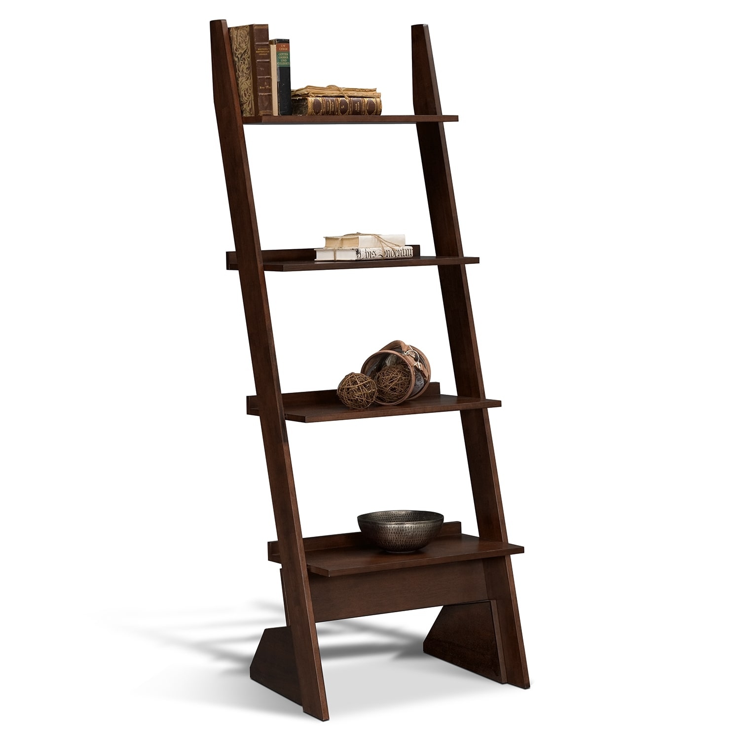 Accent and Occasional Furniture - Wentworth Dark Leaning Bookshelf