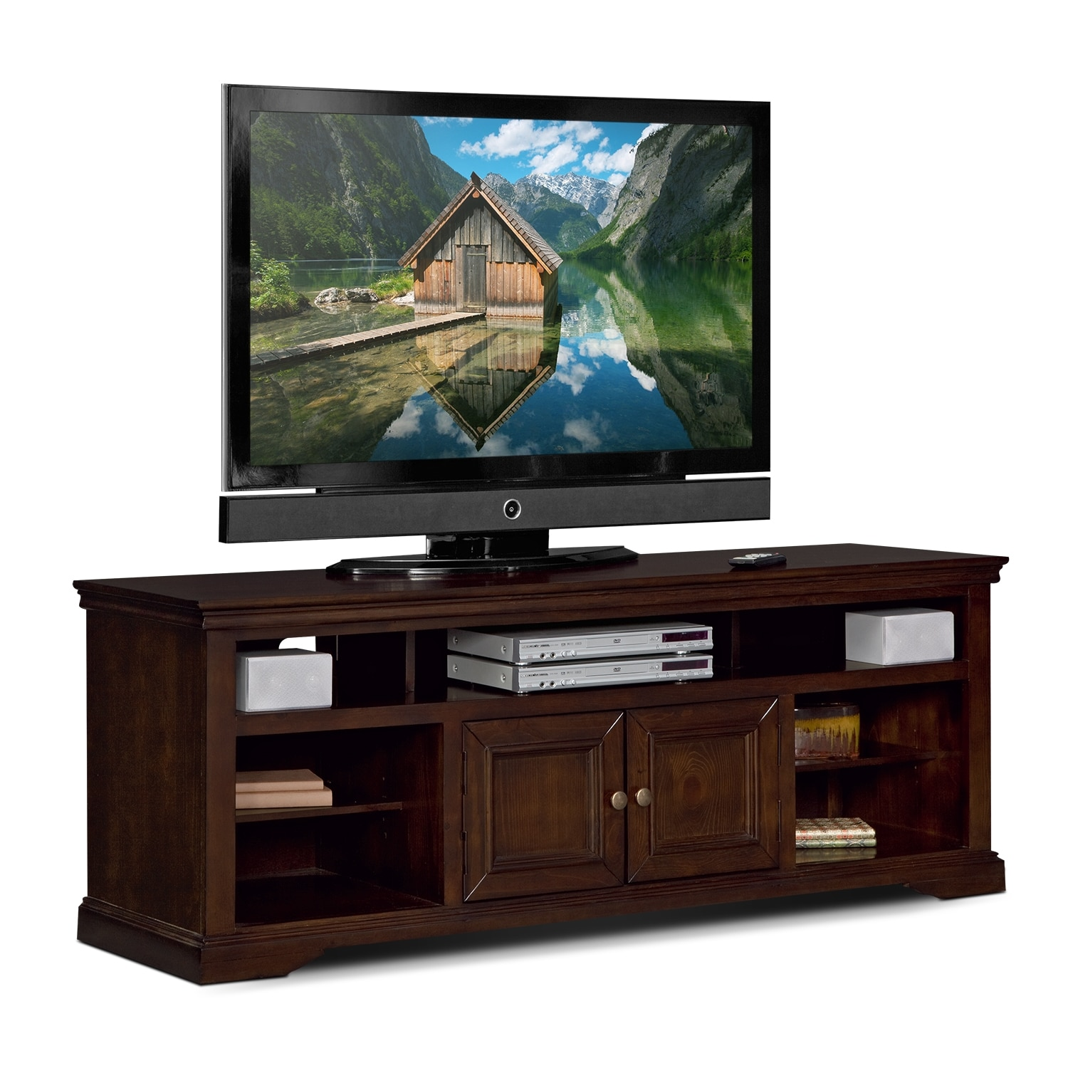Jenson quot tv stand cherry value city furniture