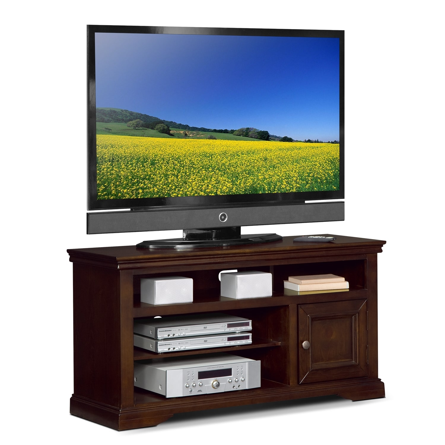 "50 Inch Tv Stands American Freight Furniture: Jenson 50"" TV Stand - Cherry"