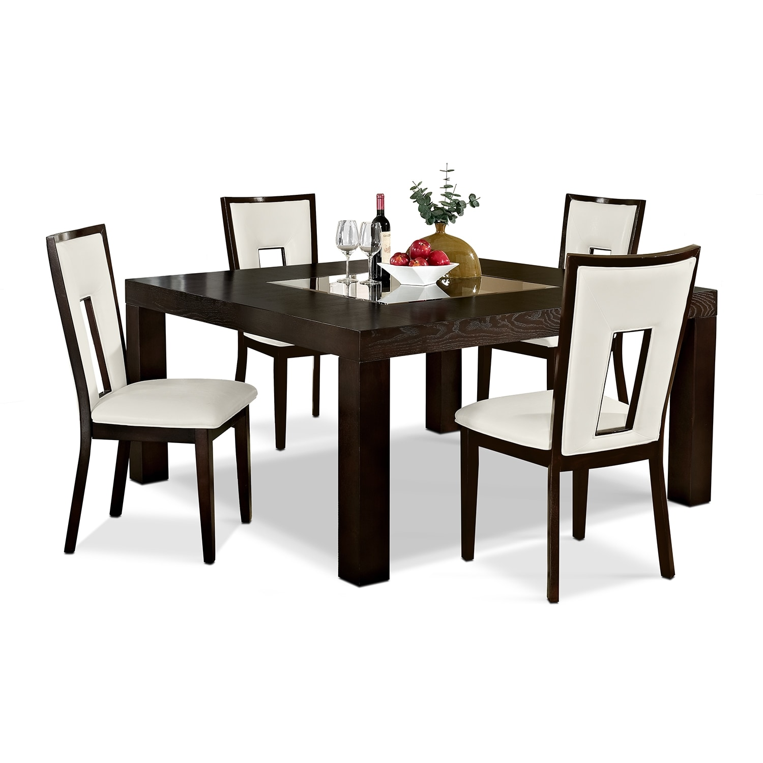 dining room furniture tango madera 5 pc dinette 60 table