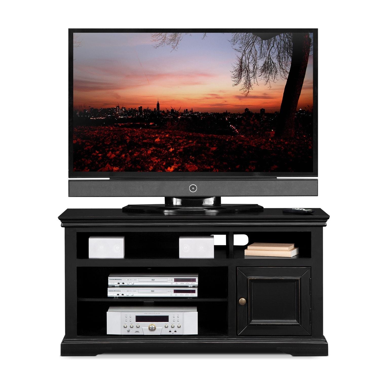 jenson 50 tv stand black american signature furniture