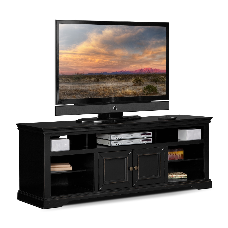 jenson 70 tv stand black american signature furniture