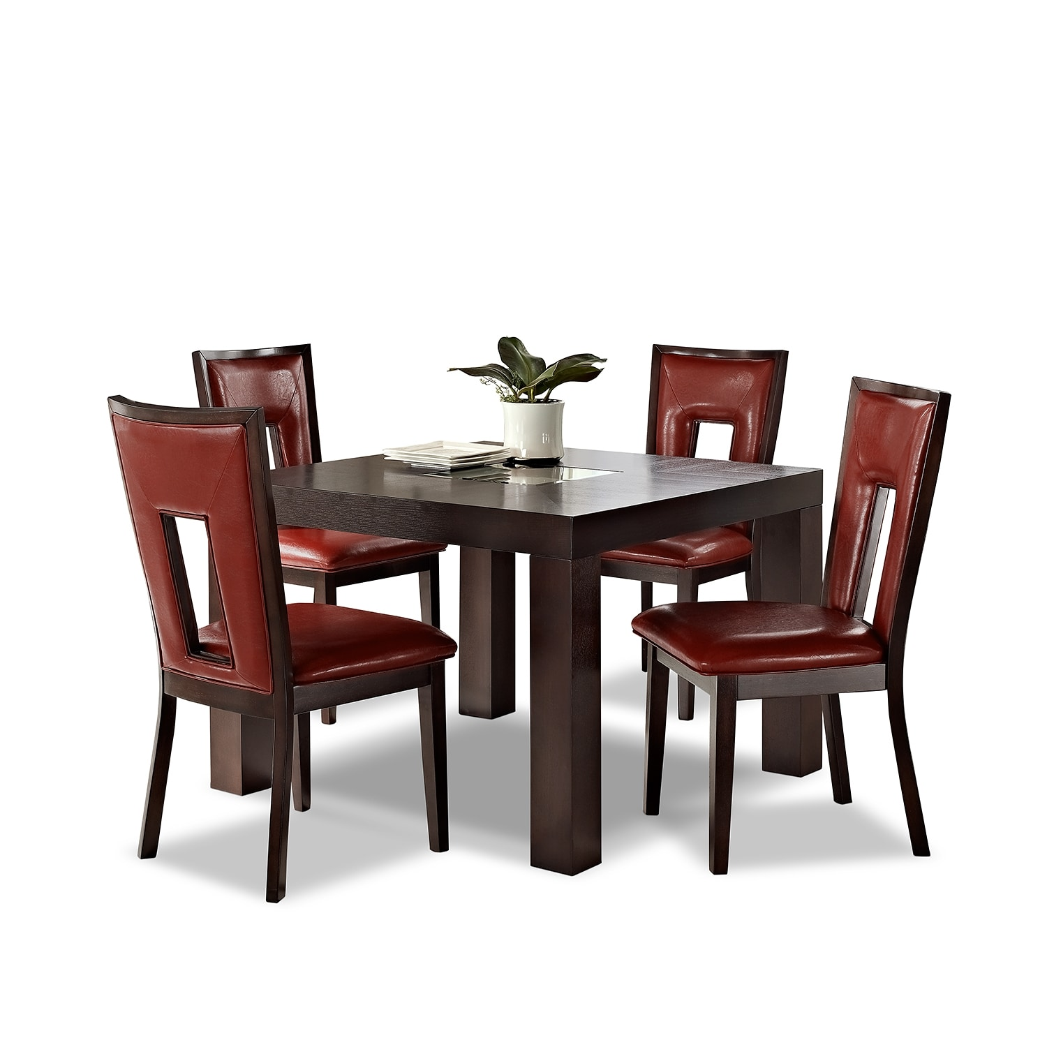 Tango madera ii dining room 5 pc dinette 42 table for Dining room furniture specials
