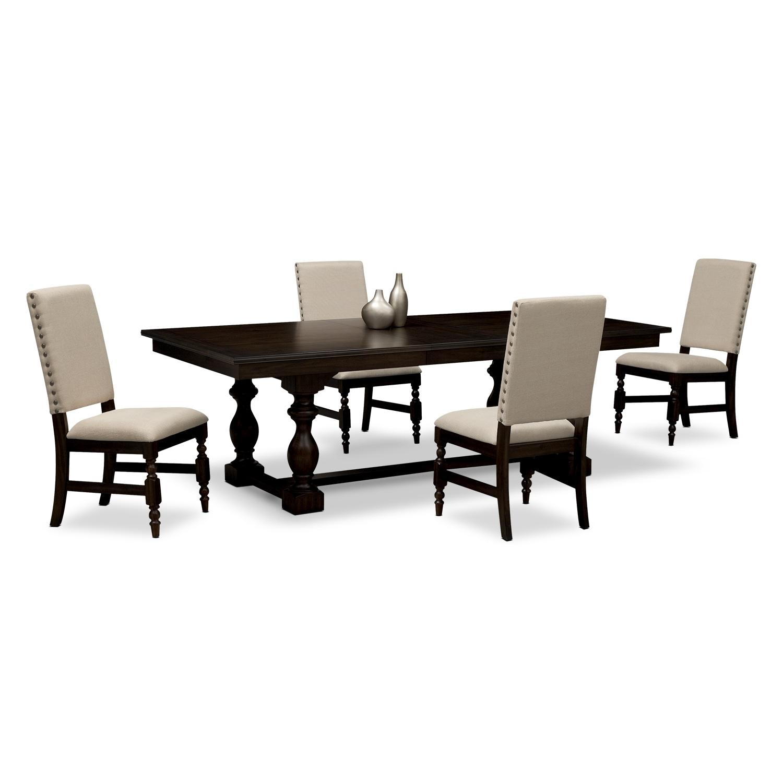 ashton dining room 5 pc dinette american signature furniture. Black Bedroom Furniture Sets. Home Design Ideas