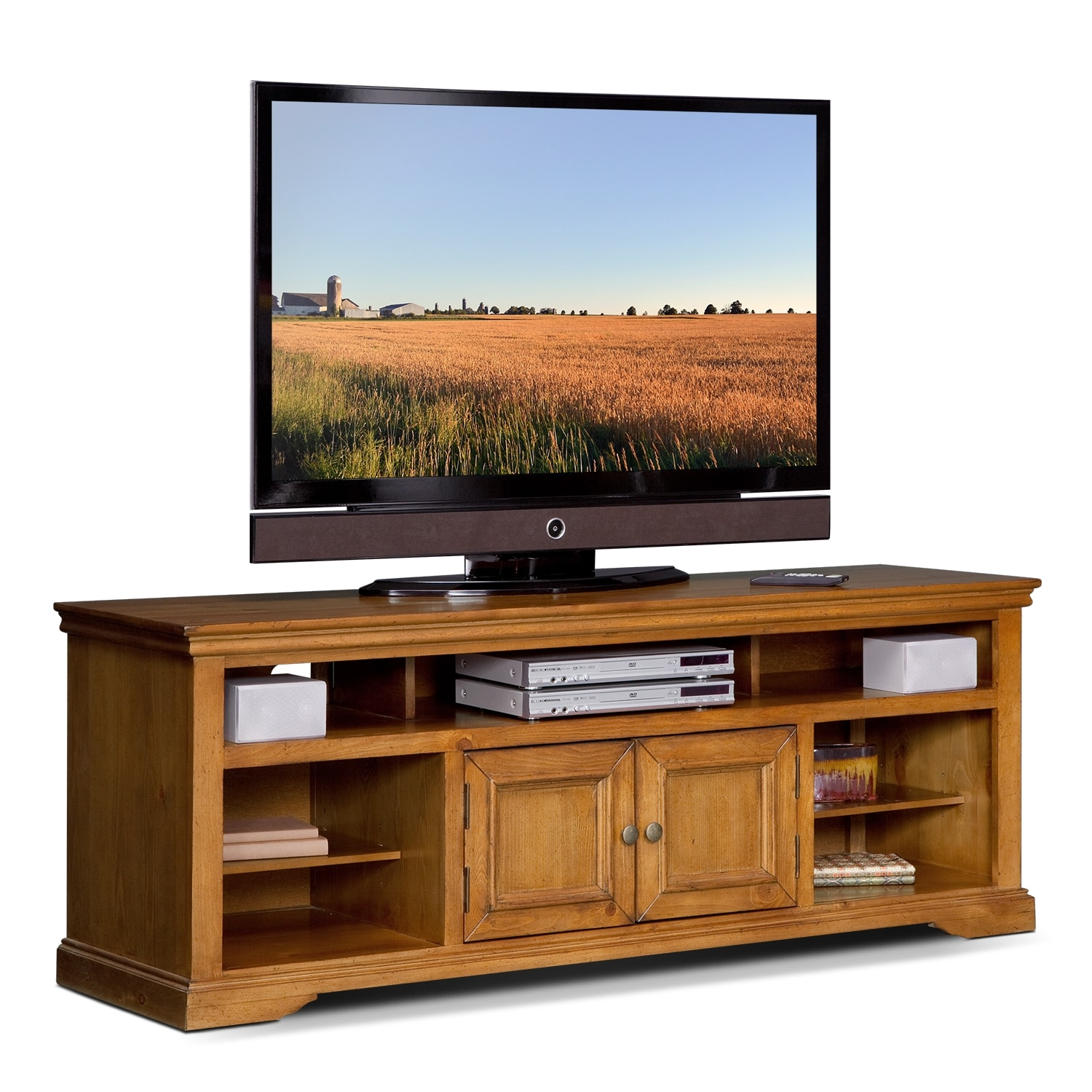 Jenson 70 Tv Stand Pine American Signature Furniture
