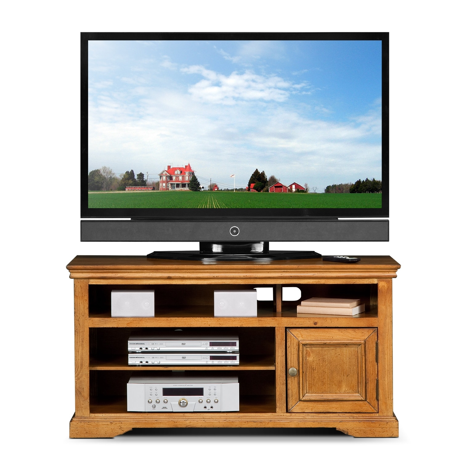 "50 Inch Tv Stands American Freight Furniture: Jenson 50"" TV Stand - Pine"