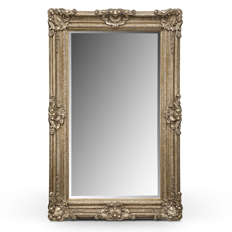 Silver Antique Floor Mirror | Value City Furniture