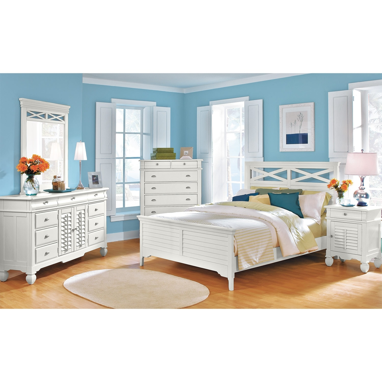 plantation cove white kids furniture door nightstand