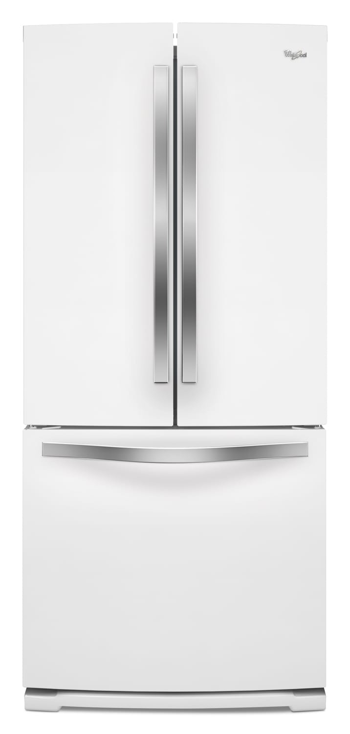 Refrigerators and Freezers - Whirlpool White French Door Refrigerator (19.5 Cu. Ft.) - WRF560SFYH