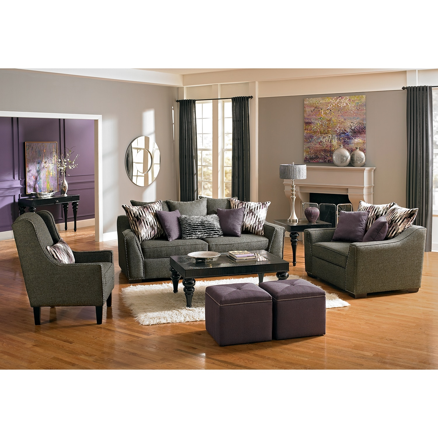 Ritz Sofa Gray Value City Furniture