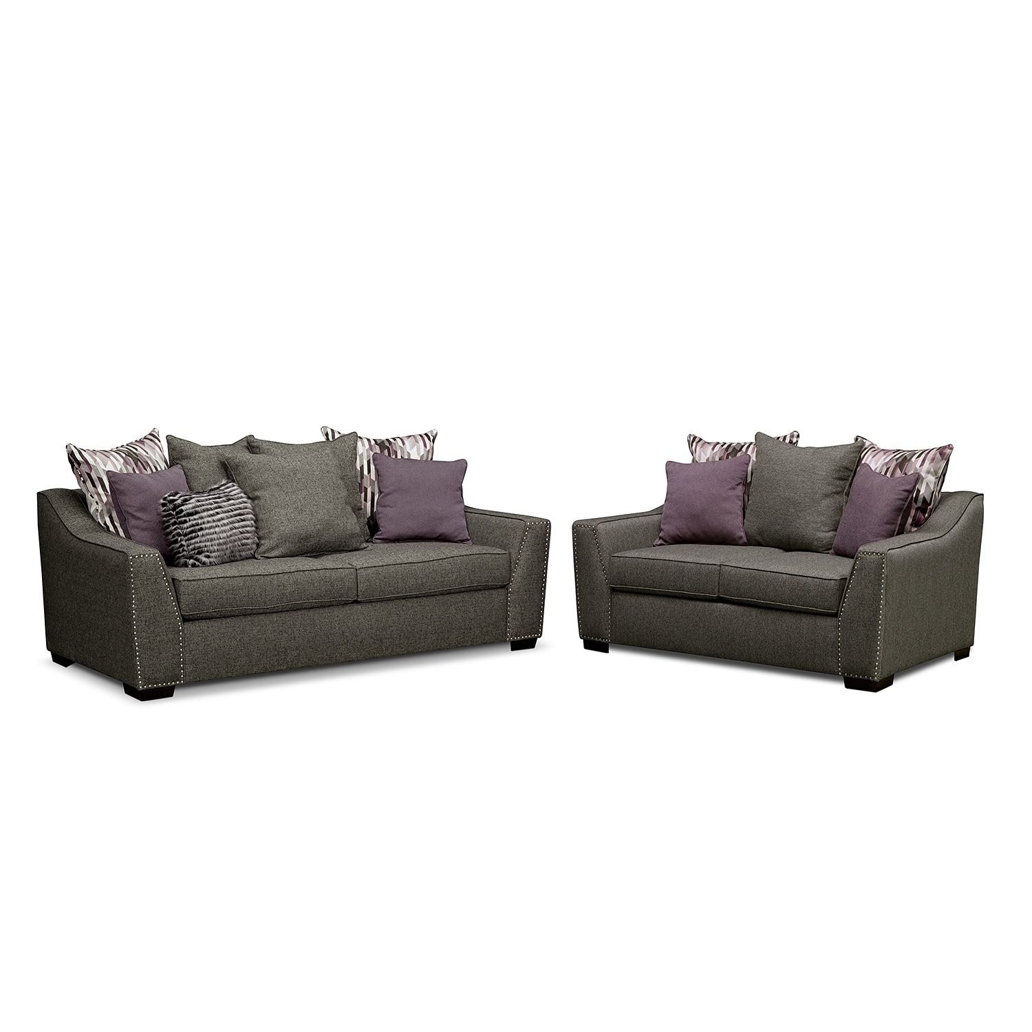 Living room furniture ritz 2 pc living room