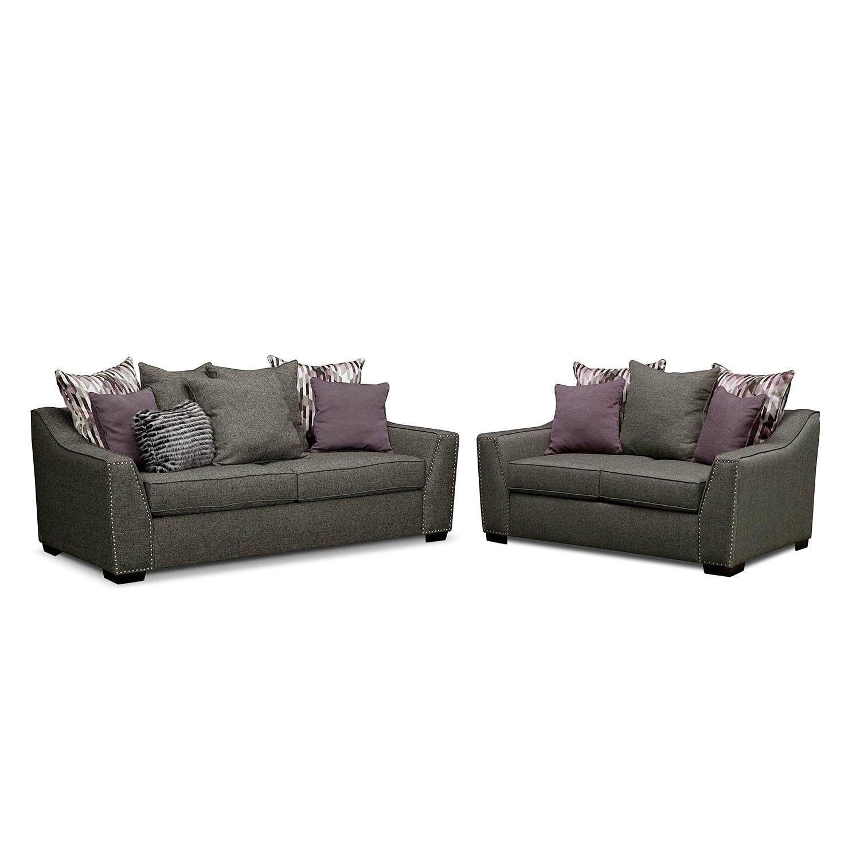 Living room furniture ritz 2 pc living room