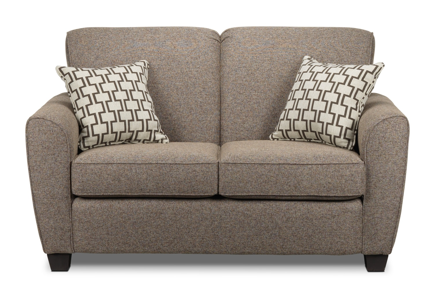 Living Room Furniture - Ashby Loveseat - Brown