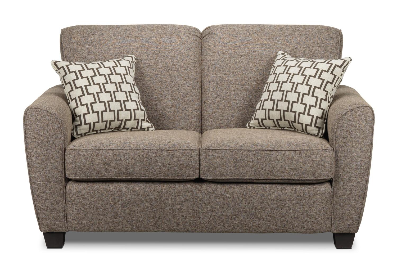 Living Room Furniture - Ashby Loveseat - Brown