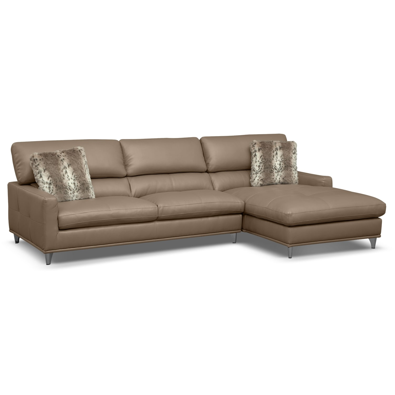 Mystique Leather 2 Pc Sectional Value City Furniture