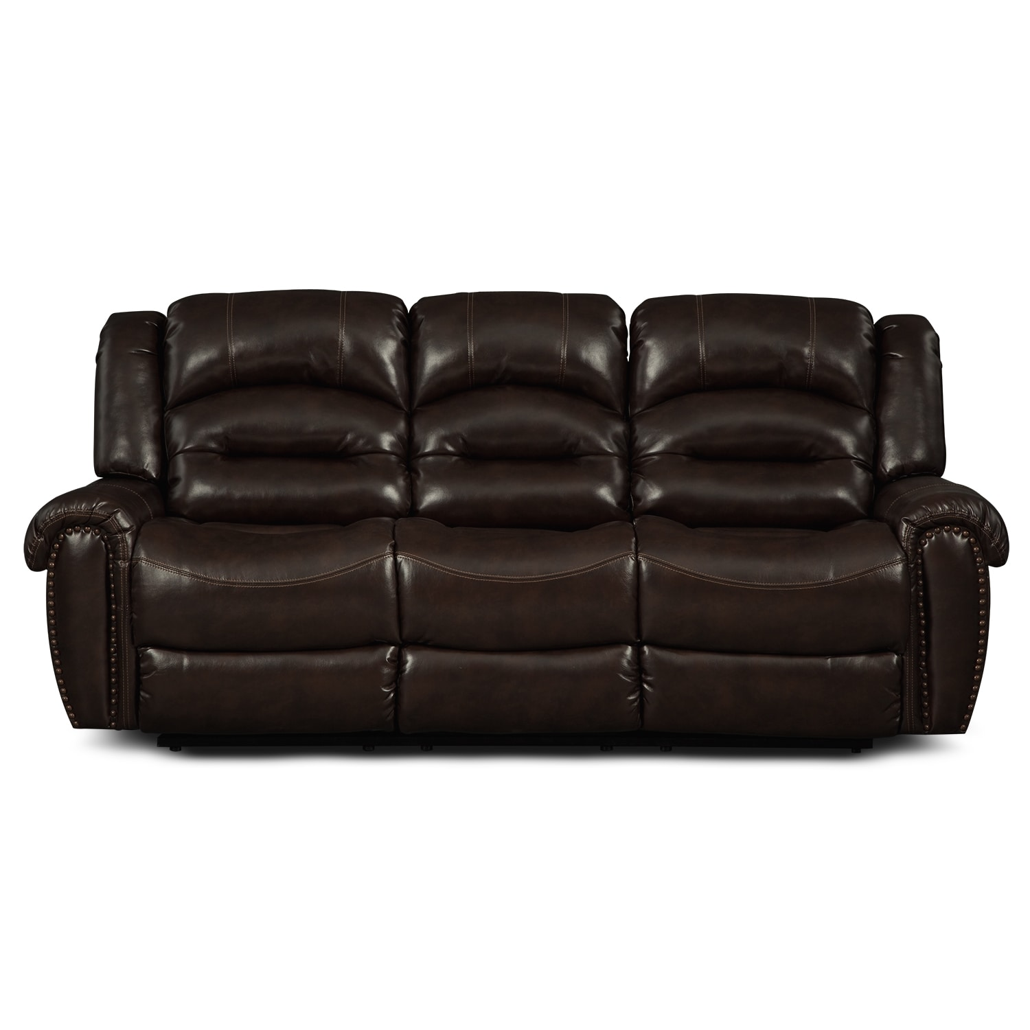 Galveston Leather Dual Reclining Sofa Value City Furniture