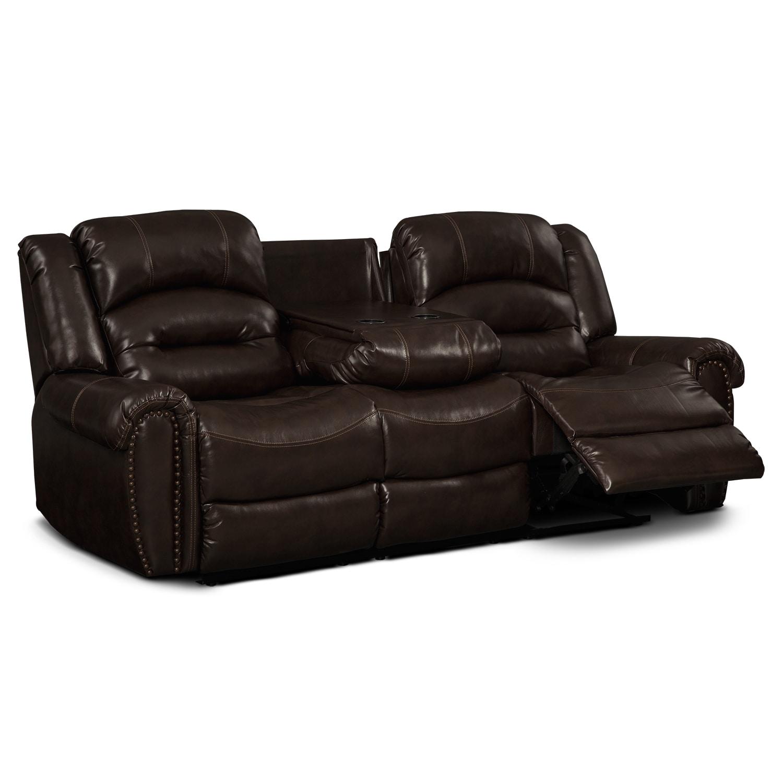 Galveston Leather Dual Reclining Sofa Value City Furniture