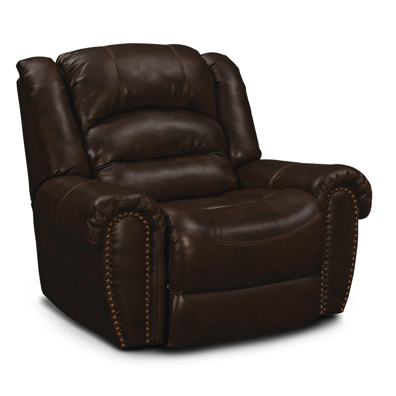 Galveston leather rocker recliner value city furniture