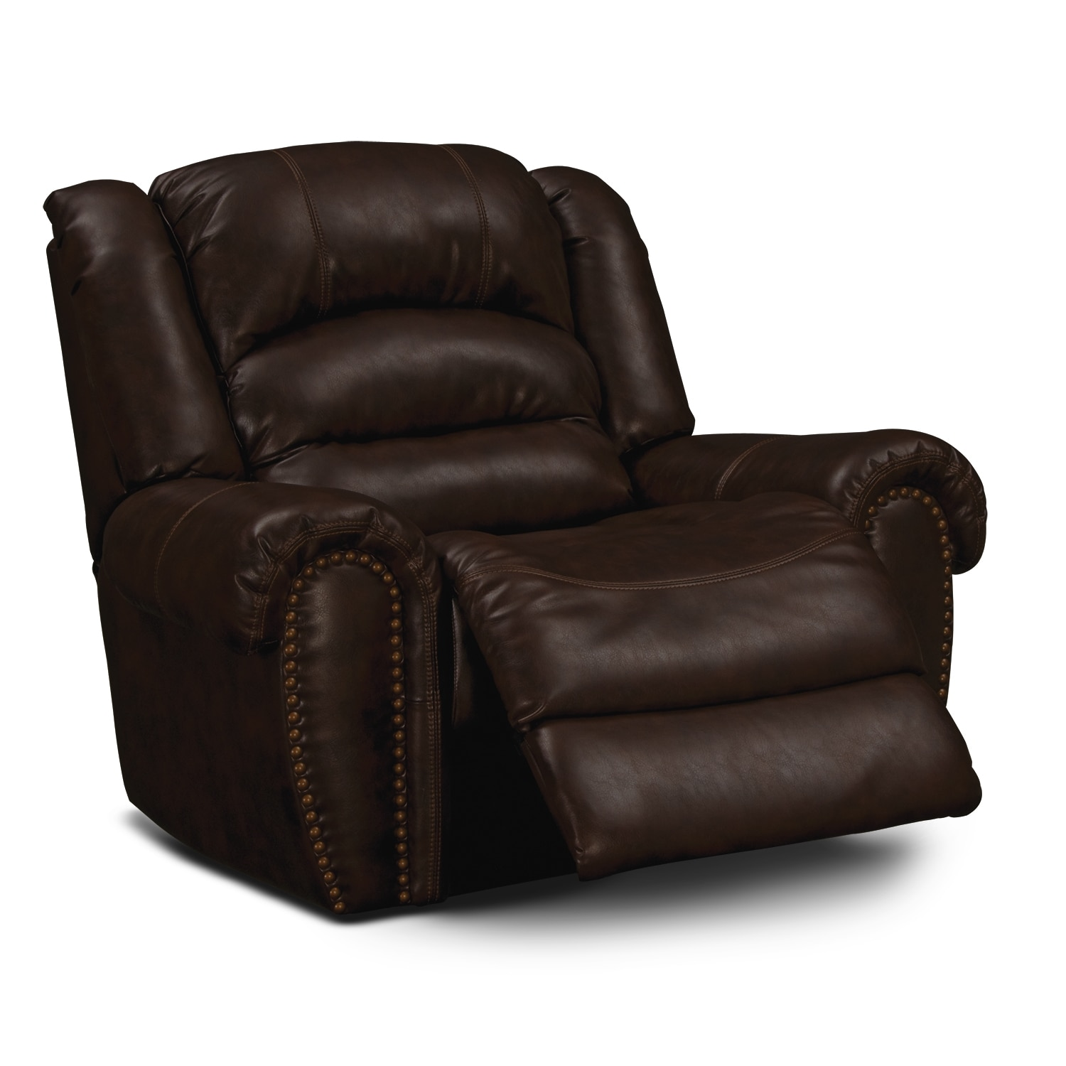 Galveston Leather Rocker Recliner Value City Furniture