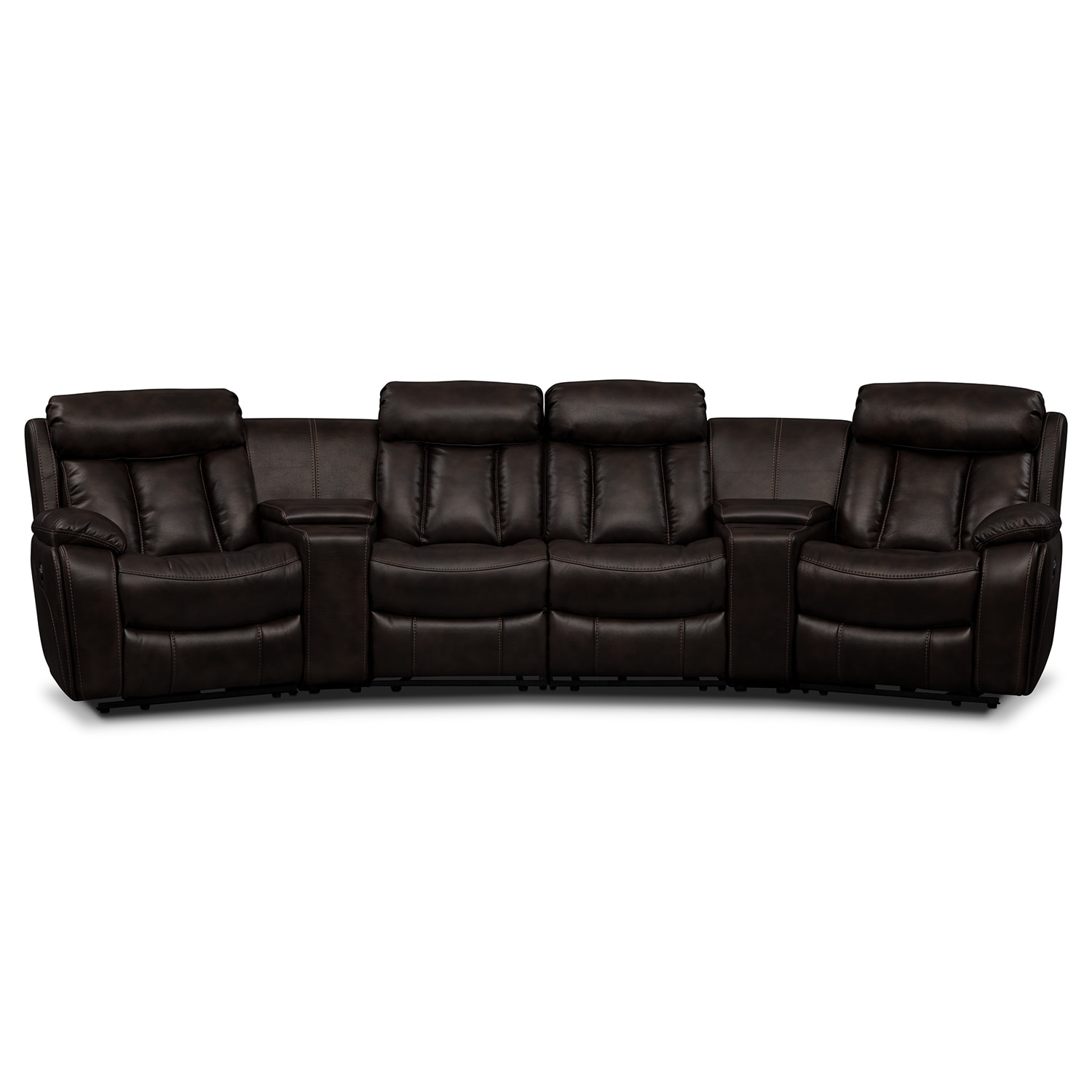 Living Room Furniture - Remington 6 Pc. Power Reclining Sectional (Alternate)