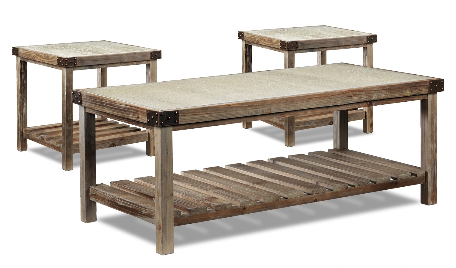 Accent and Occasional Furniture - Brisdale Coffee Table & Two End Tables Set