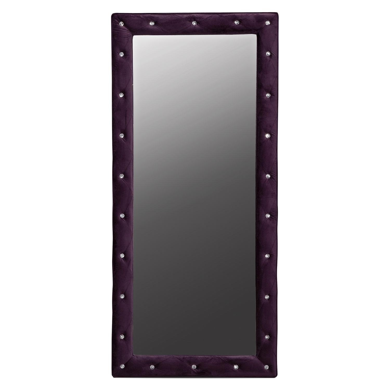 Kids Furniture - Layla Purple Floor Mirror