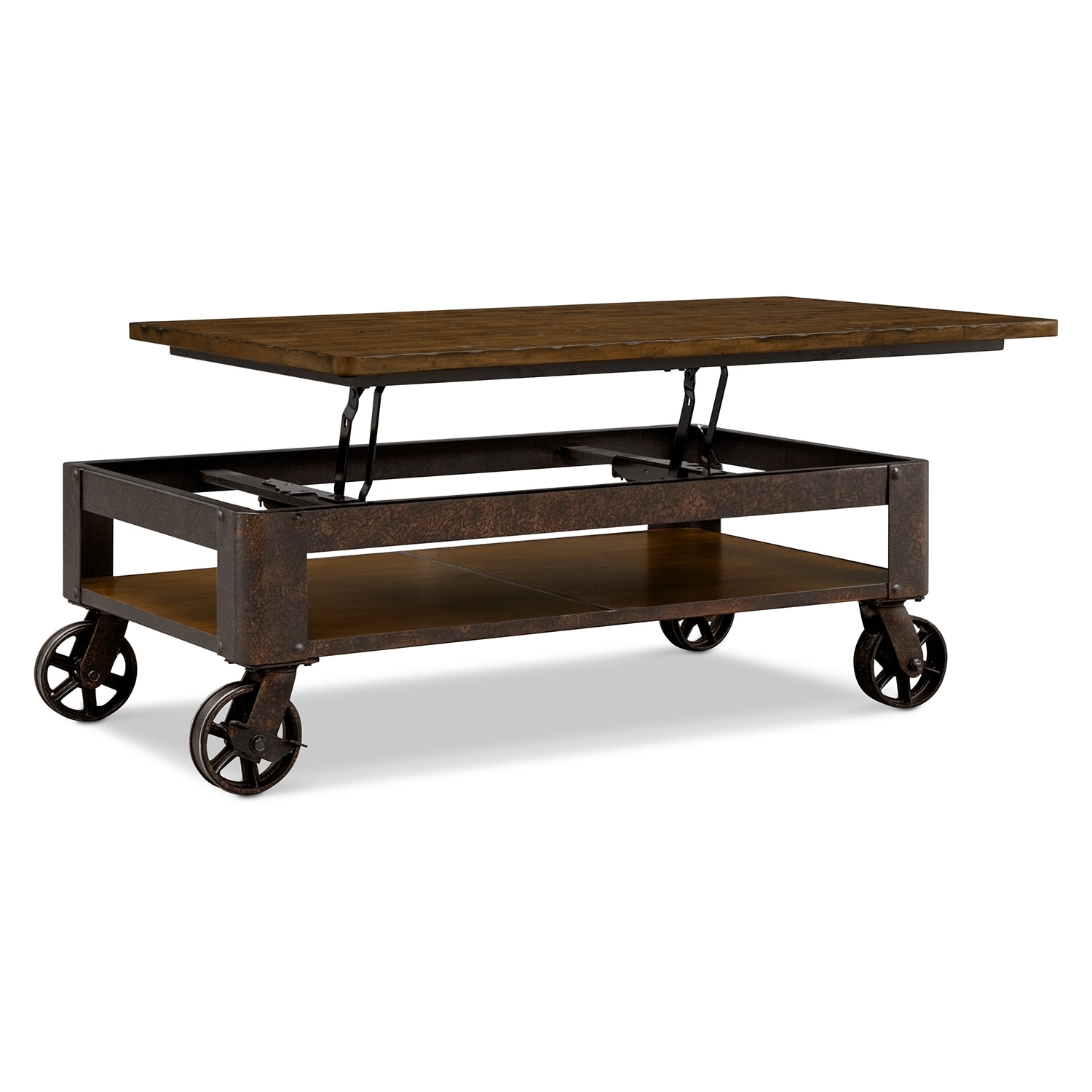 Shortline lift top cocktail table value city furniture Lifting top coffee table