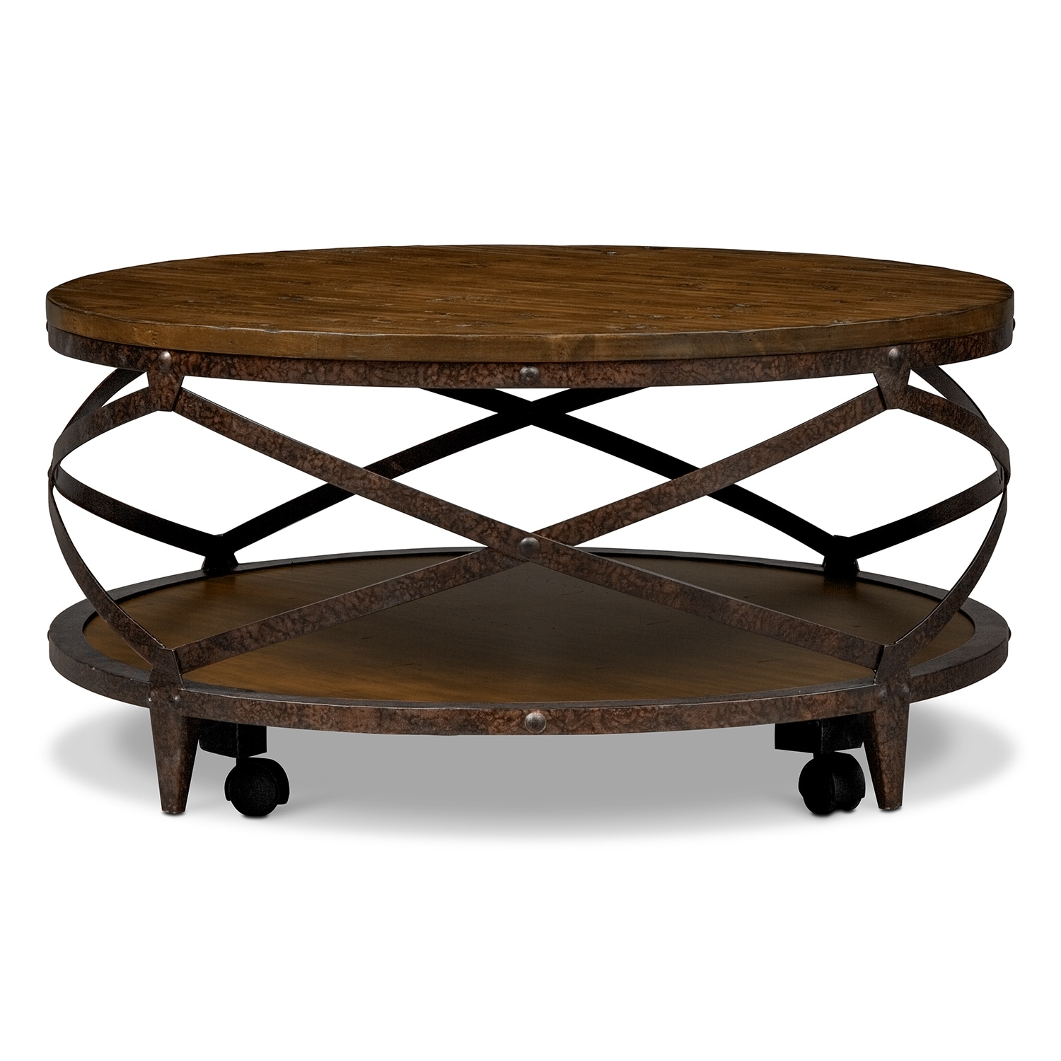 Shortline Cocktail Table Distressed Pine American Signature Furniture