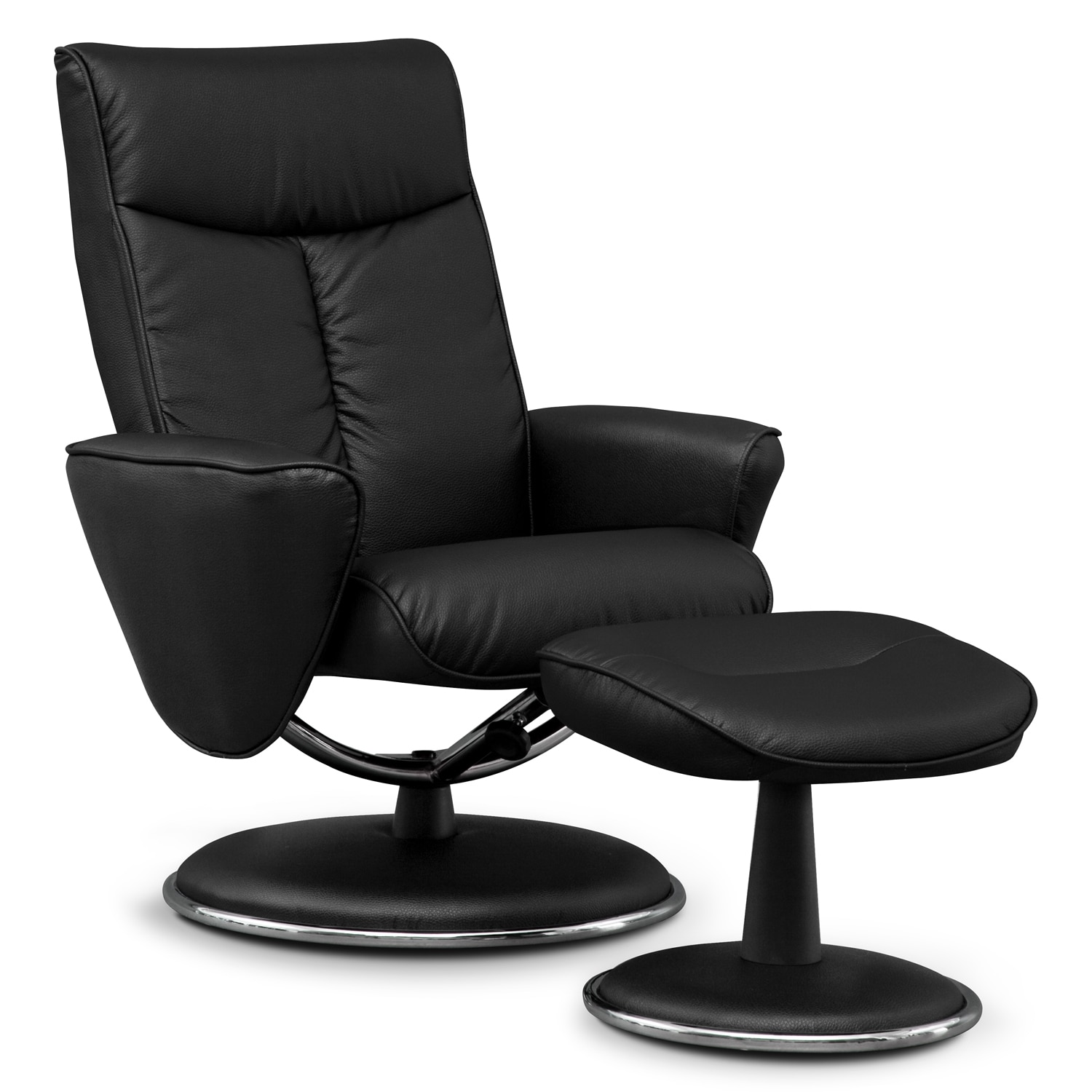 american signature furniture prism leather chair and ottoman