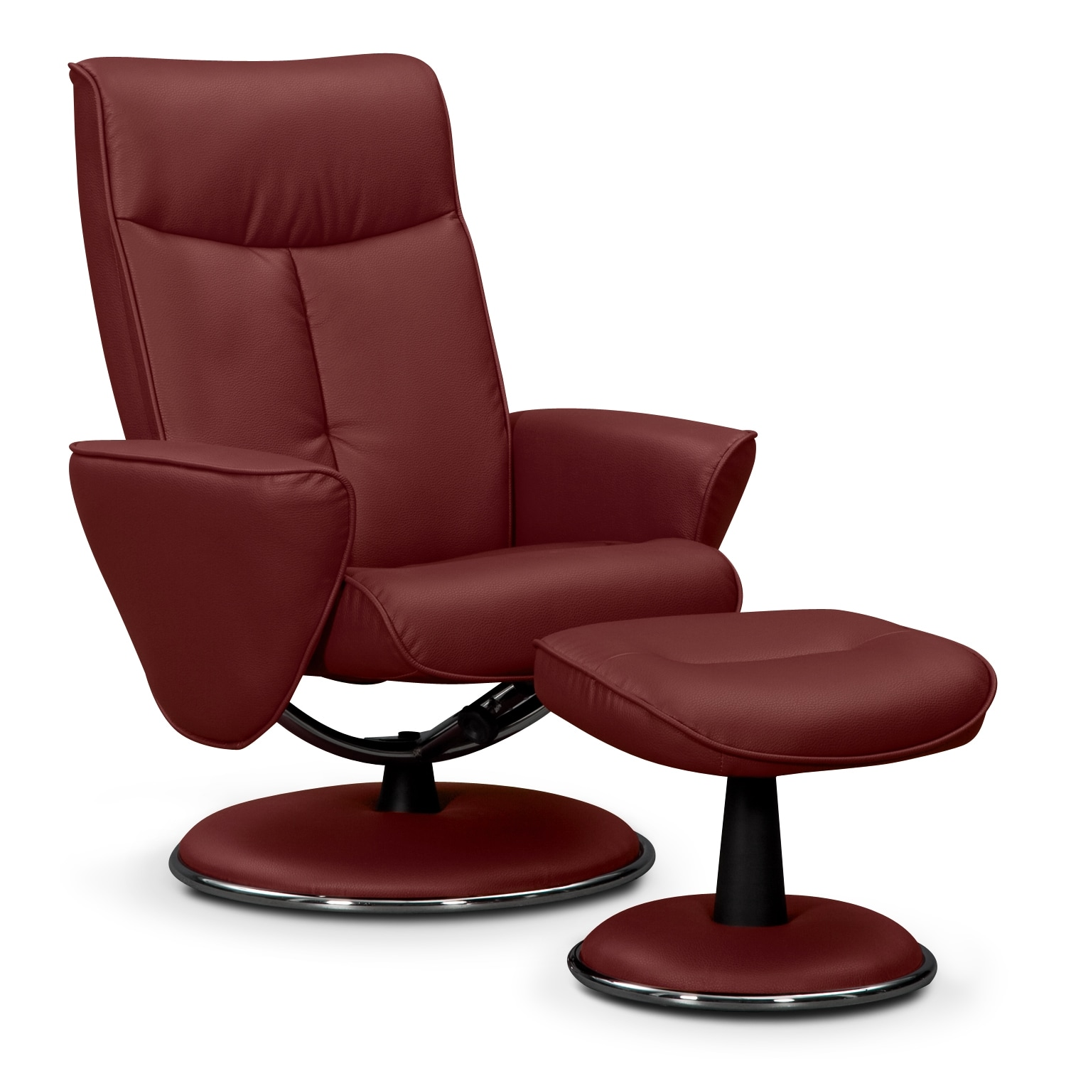 prism leather chair and ottoman value city furniture