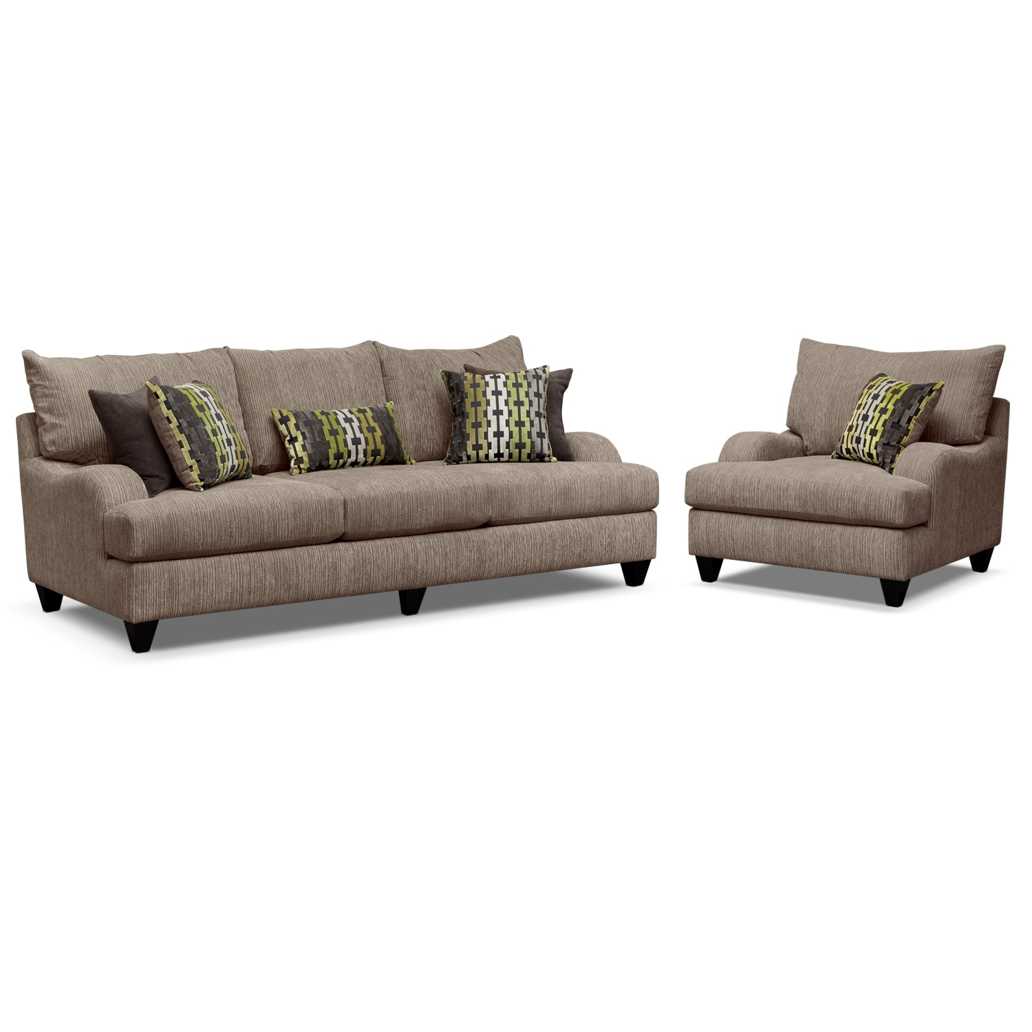 Santa monica 2 pc living room wchair value city furniture