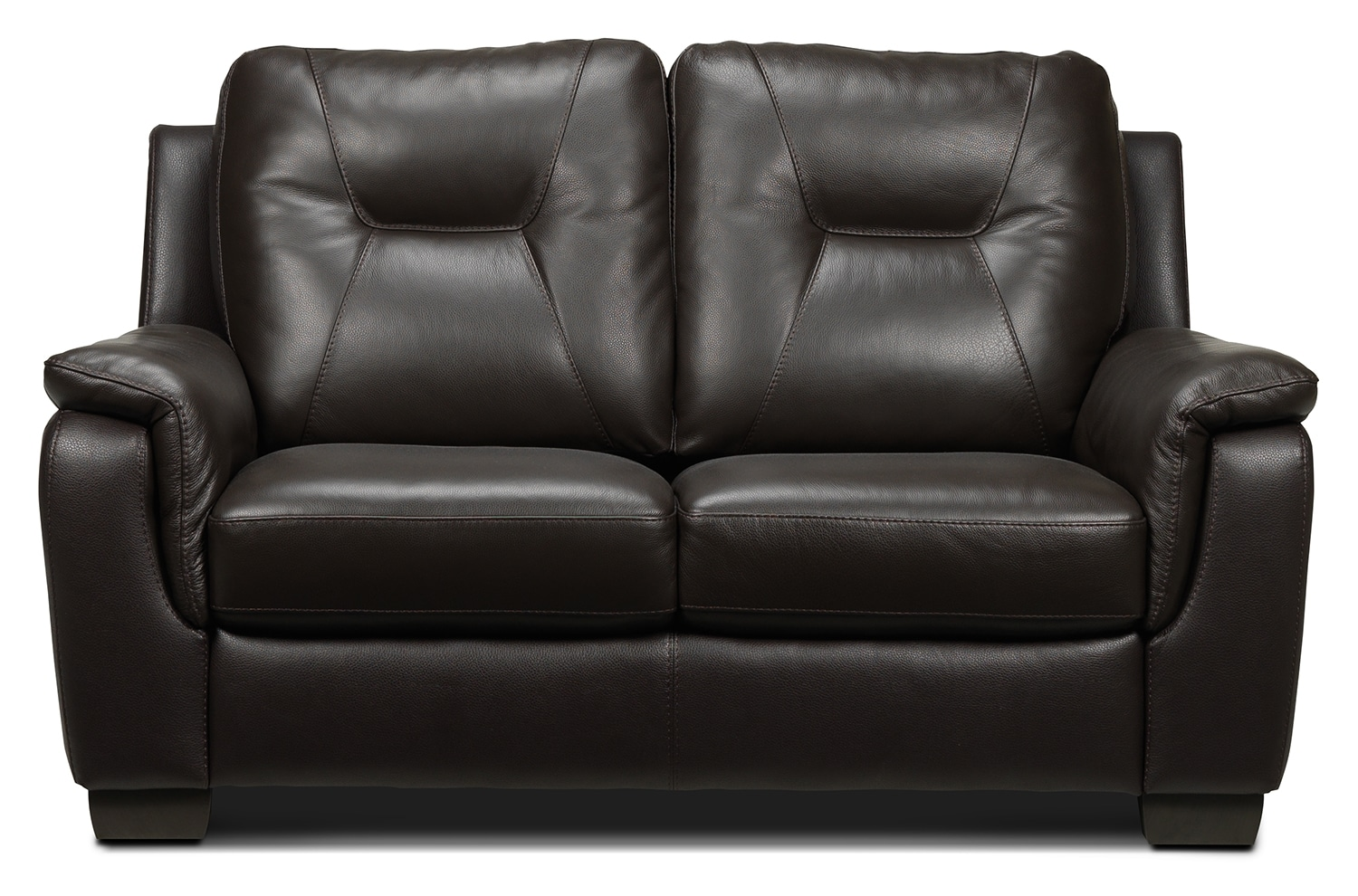 Living Room Furniture - Dalia Loveseat - Espresso