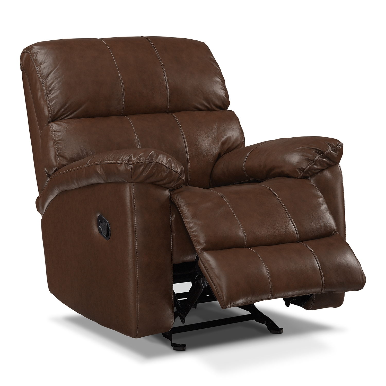 Hamilton Leather Rocker Recliner Value City Furniture